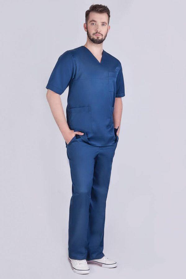 Ubranie medyczne męskie - kolor granatowy