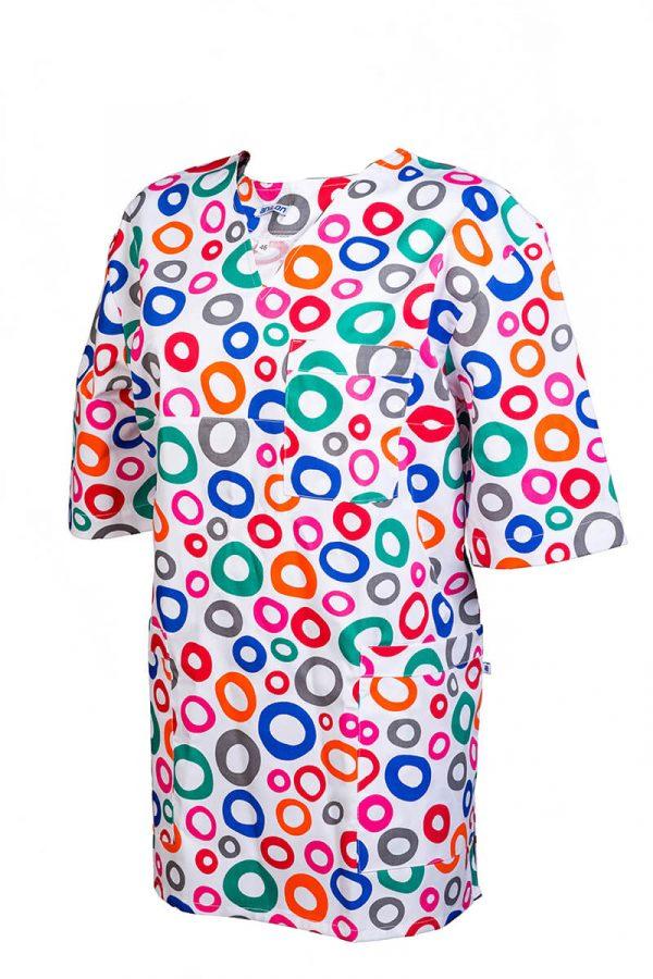 Bluza medyczna męska w kolorowe wzory