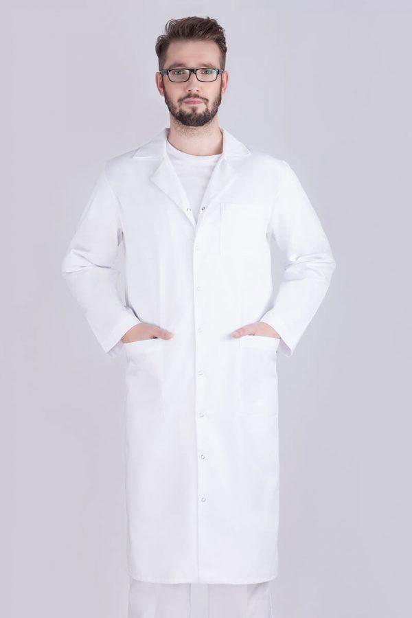 Fartuch medyczny męski biały