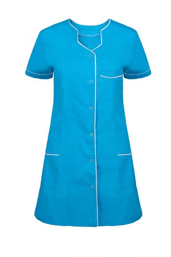 Kolorowa tunika medyczna damska - zapięcie na napy