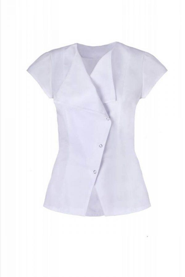 Żakiet medyczny biały z krótkim rękawem