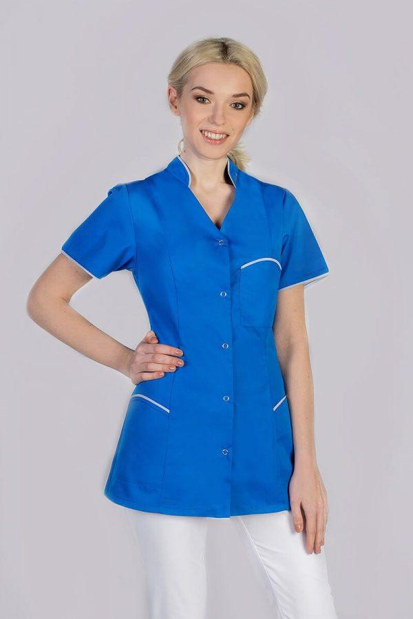 Kolorowy żakiet medyczny damski - niebieski