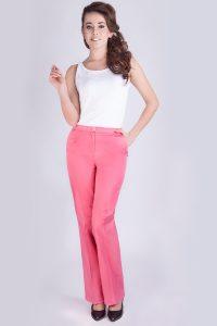 Spodnie medyczne damskie z elastanem - kolorowe