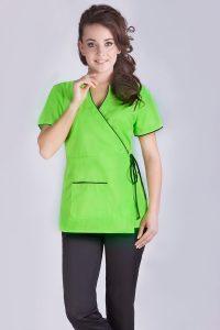 damski żakiet medyczny zielony