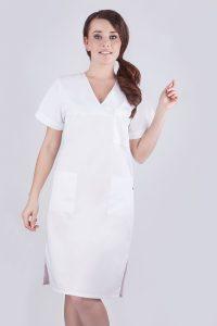 Sukienka zabiegowa biała