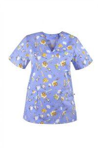 Bluza medyczna pediatryczna w dziecięcy wzór