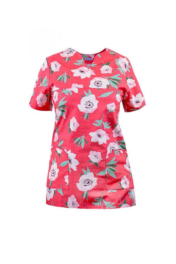 bawełniana bluza medyczna damska we wzory