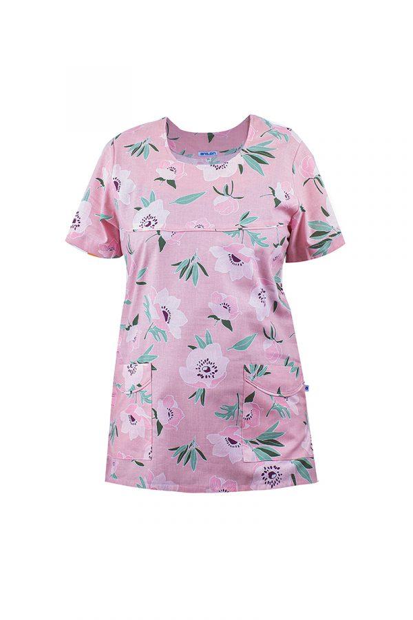 bluza medyczna kwiaty damska